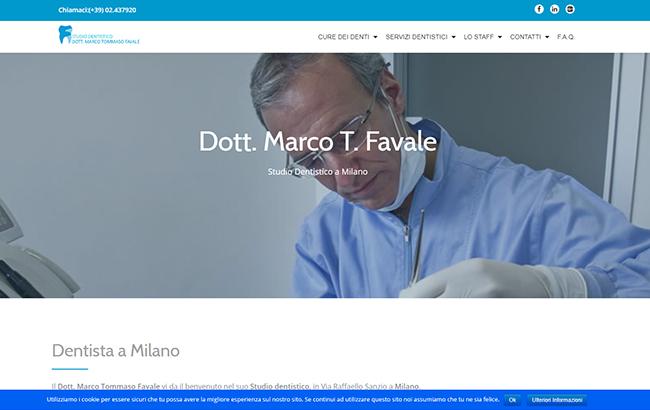 Realizzazione sito web per un dentista