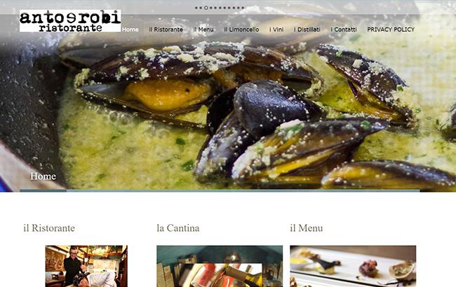 Sviluppo sito web per un ristorante.